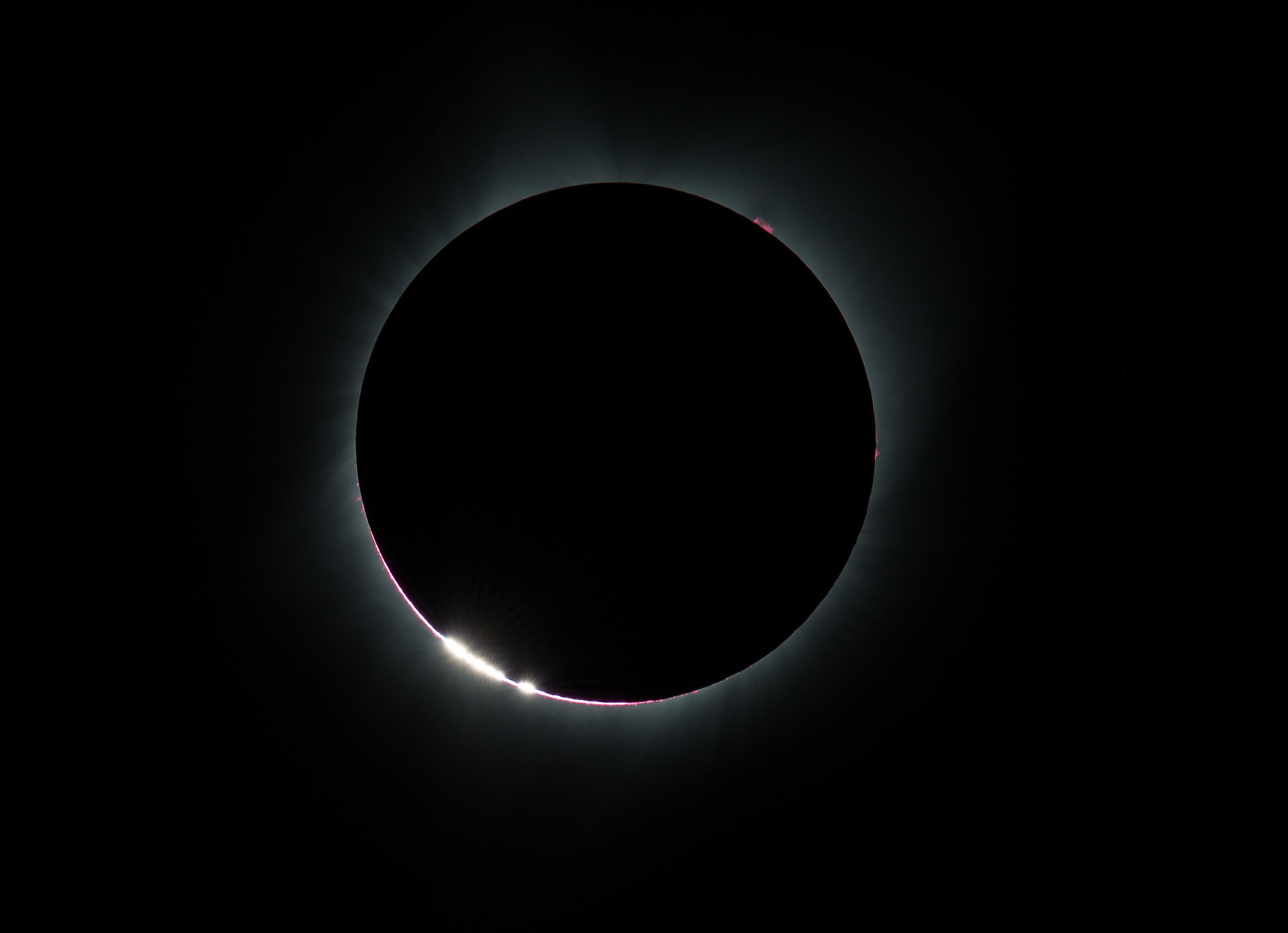 Just before totality