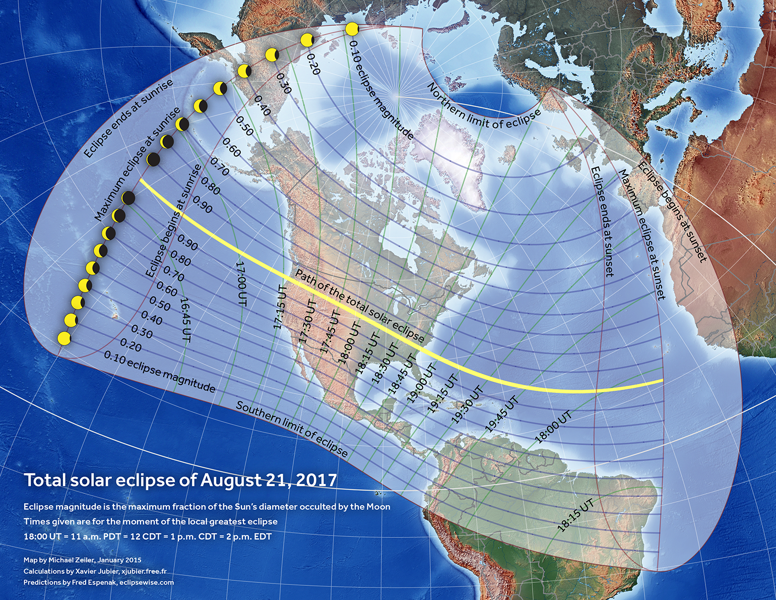 2017 Eclipse Usa Map.Totality Maps By State American Eclipse 2017
