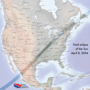 Total Solar Eclipse 2024 Overview Map