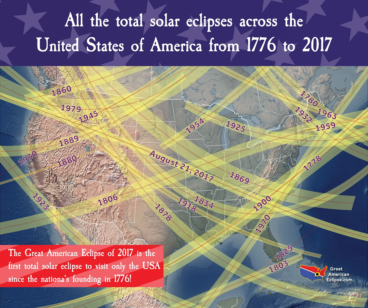 2017 Eclipse Usa Map.American Eclipse History American Eclipse 2017