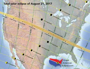 Partial eclipse magnitudes by location
