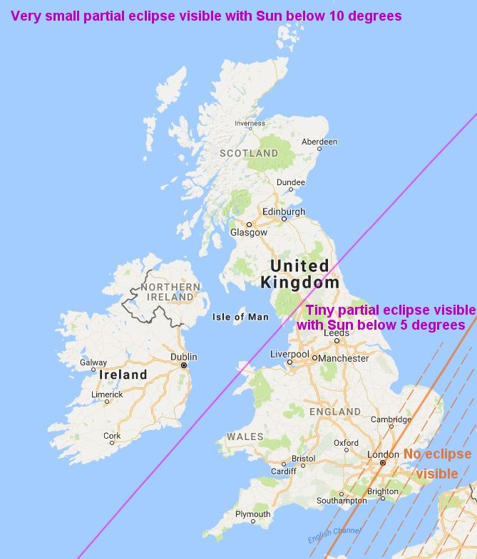UK Eclipse Visibility Map